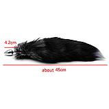 Анальная пробка с хвостиком для эротических взрослых игр длина 45см, фото 4