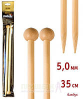 Спицы прямые бамбук Addi 500-7 № 5-35см