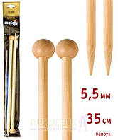 Спицы прямые бамбук Addi 500-7 № 5,5-35см