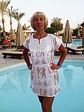 Туника с принтом Египет белая (56 размер размер XXL ), фото 6