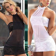 Эротическое белье. Сексуальный комплект. Пеньюар. Платье. Боди Нижнее белье (48 размер размер L) белый
