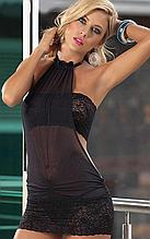 Эротическое белье. Сексуальный комплект. Пеньюар. Платье. Боди Нижнее белье (46 размер размер М) черный