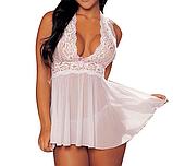Сексуальне білизна. Пеньюар Elegance Set Lolitta (38 розмір розмір XS) чорний, фото 4