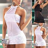 Еротична білизна. Сексуальний комплект. Пеньюар. Сукню. Боді Нижню білизну (48 розмір розмір L) білий, фото 2