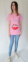 Футболка для беременных киндер , розовая, фото 1