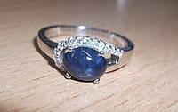 """Хорошенькое  кольцо """"Лаки"""" со звездчатым сапфиром, размер 17,1 от студии LadyStyle.Biz"""