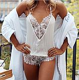 Сексуальное белье. Эротическое боди. Эротический комплект. белый(40 размер Размер  S), фото 2