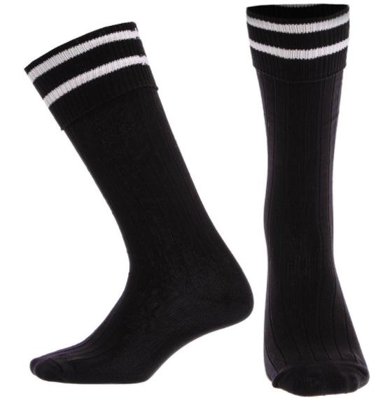 Гетры футбольные юниорские co5602 (нейлон, размер 32-39, цвет черные)