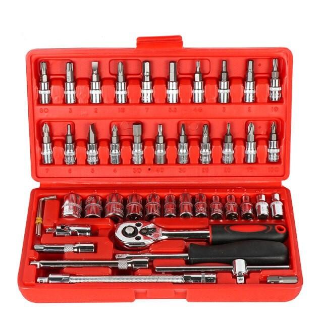 Набор инструментов 46 предметов, набор бит, универсальный набор инструмента