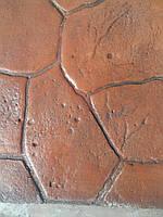 Набор добавок для печатного бетона на 10 кв м апельсин (топпинг-краситель, разделитель, добавки в бетон, лак)