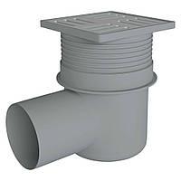 Трап в душ канализационный АНИ ПЛАСТ TA1612 с решеткой 149x149мм c мокрым гидрозатвором 79950