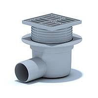 Трап в душевую канализационный АНИ ПЛАСТ TA5602 с решеткой 103x103мм c мокрым гидрозатвором 80060