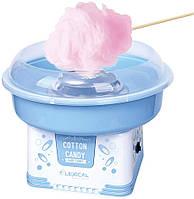 Апарат для приготування солодкої вати LEXICAL LCC-3601 блакитний (500Вт, діаметр 25 см, мірна ложка + паличка), фото 1