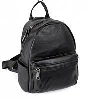 Женский кожаный рюкзак небольшого размера JZ NS8 Черный из натуральной кожи 24х19х12