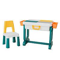 Детский многофункциональный столик ТРАНСФОРМЕР 6 в 1 разноцветный