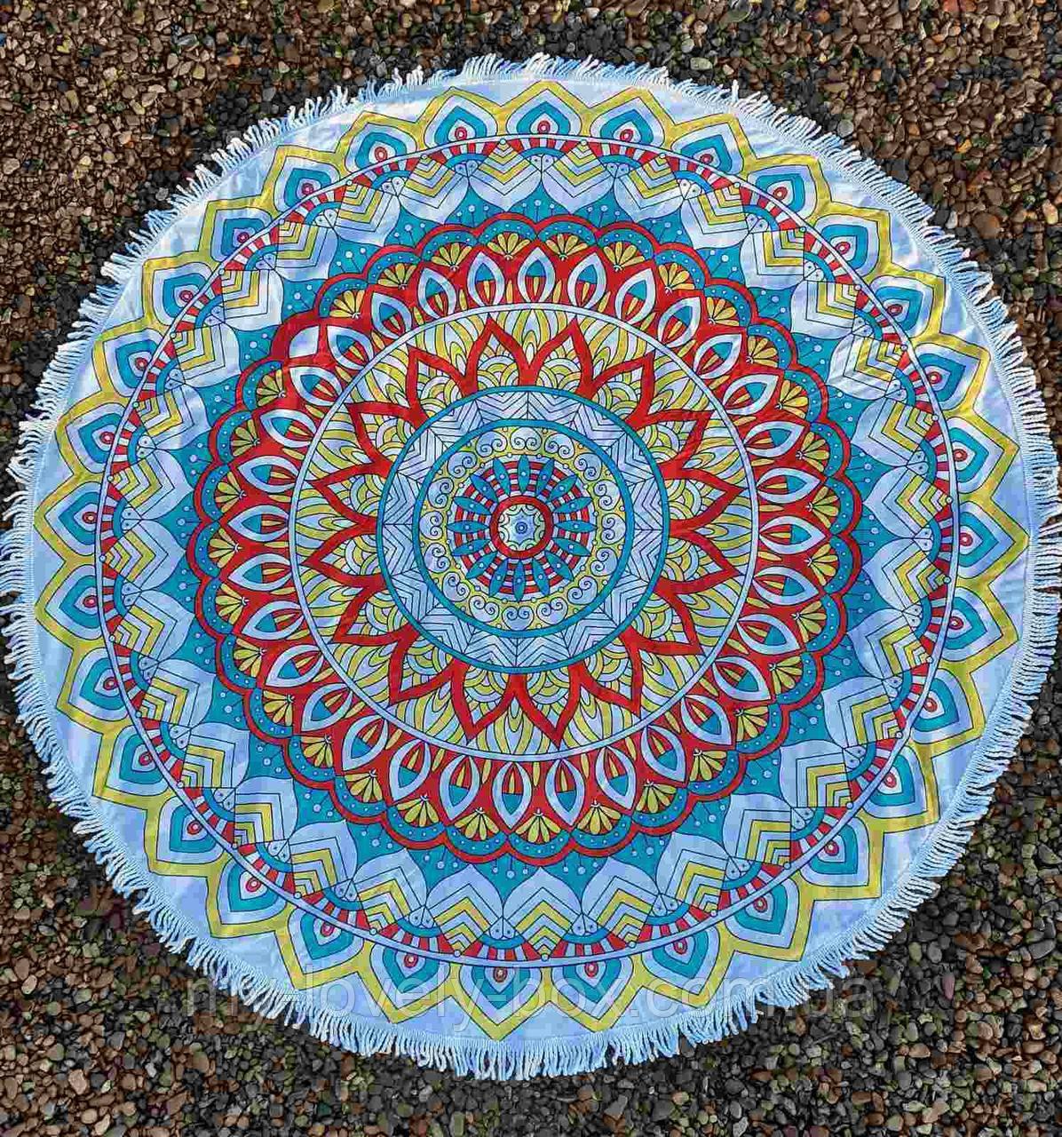 Полотенце-коврик пляжное круглое орнамент (Арт. TPA113/1)