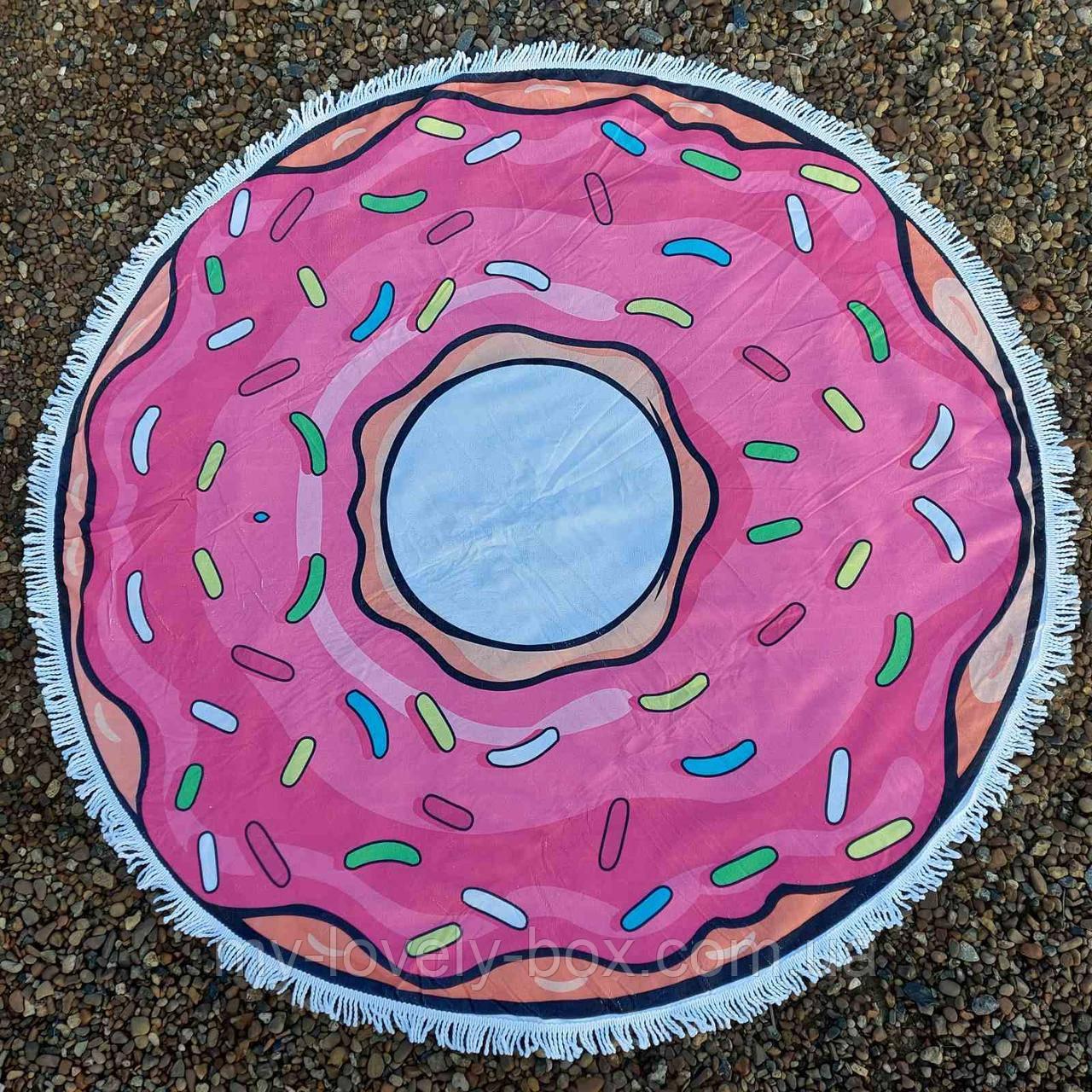 Полотенце-коврик пляжное круглое пончик (Арт. TPA113/2)