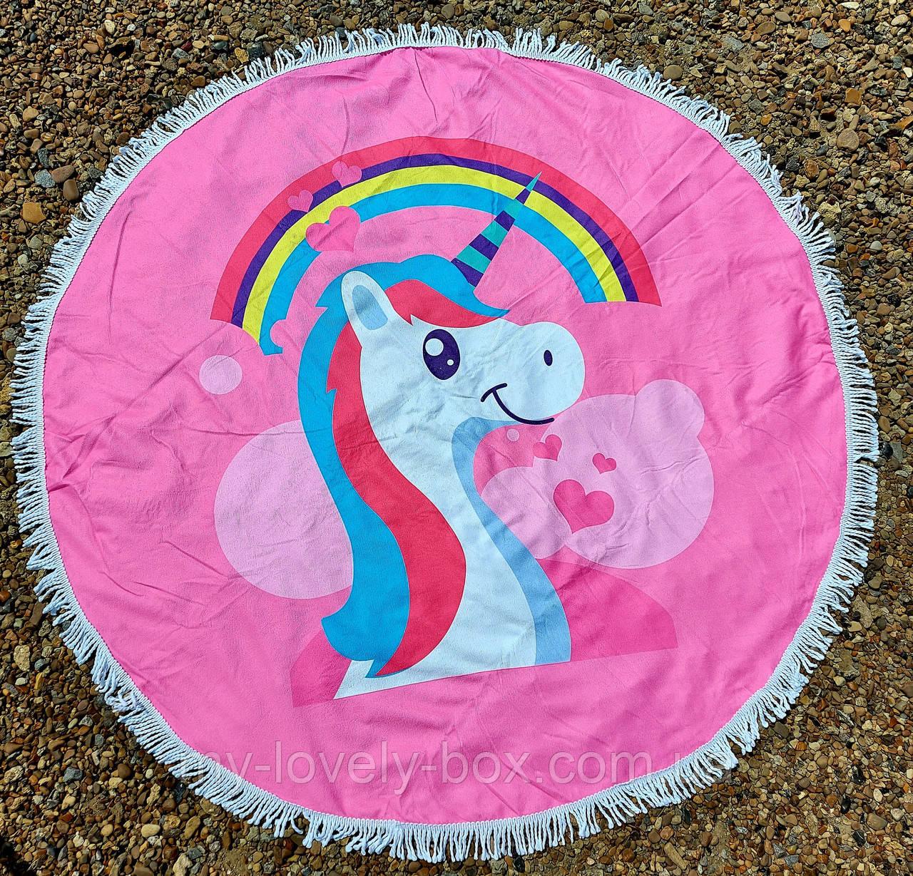 Полотенце-коврик пляжное круглое (Арт. TPA113/24)