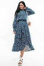 Платье-миди с принтом из натуральной ткани (Флорет ri), фото 3