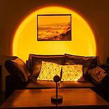 Sunset Lamp проекционный светильник заката, рассвета, USB led Lamp - Желтый Закат, фото 3