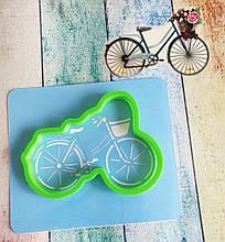 Трафарет + формочка-вырубка для пряников Велосипед №2