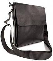 Классическая мужская сумка через плечо на три отделения Tiding Bag A2 из натуральной кожи
