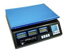 Електронні торгові ваги до 40 кг Opera Plus OP-208