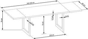 Стіл кухонний дерев'яний обідній на кухню кухонна RADUS колір дуб/чорний 140x85 (Halmar), фото 3