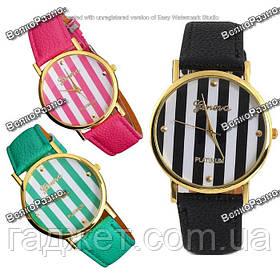 Женские часы Geneva Platinum мятного, розового или черного цвета