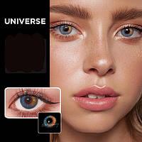Цветные контактные линзы Коричневый+Голубой (UNIVERSE)