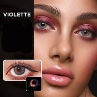 Цветные контактные линзы Коричневый+Фиолетовый (VIOLETTE)