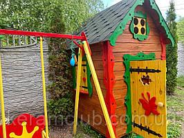 Дерев'яний дитячий будиночок 2.5*1.5*2.0 м для дитячого майданчика від виробника