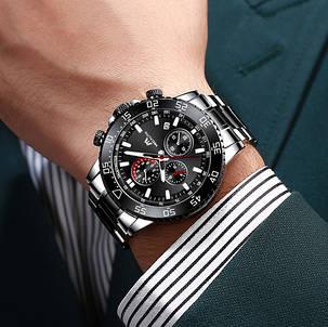 Часы мужские Megalith 8087M Black-Silver, фото 2