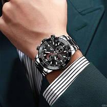 Часы мужские Megalith 8087M Black-Silver, фото 3