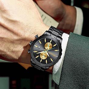 Часы мужские Megalith 8237M Black-Gold, фото 2