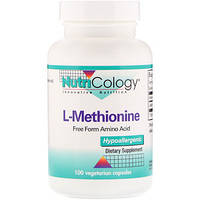 L-метионин, L-Methionine, Nutricology, 100 растительных капсул