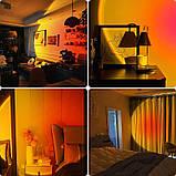 Sunset Lamp RGB з пультом - проекційний світильник заходу, світанку, usb led - Чорний, фото 3