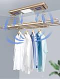 Сушка для білизни і одягу з пультом управління стельова LETON 110S Gold, фото 2