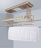 Сушка для білизни і одягу з пультом управління стельова LETON 110S Gold, фото 4