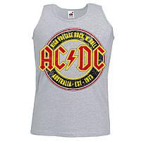 Майка AC/DC Australia 1973 меланжева