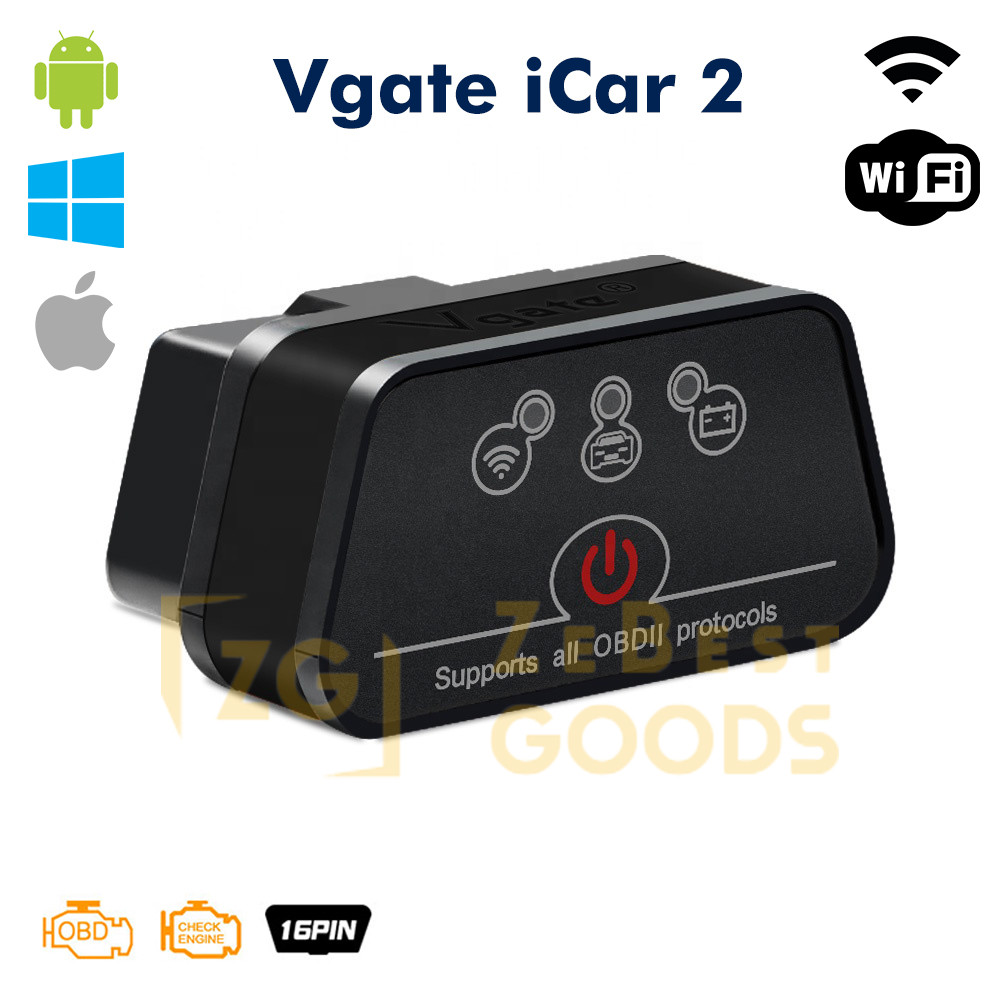 Автосканер ELM327 Vgate iCar2 OBD2 WiFi  для Android/iOs версія 2.1 (оригінал)