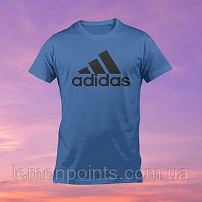 Футболка мужская спортивная Adidas синяя