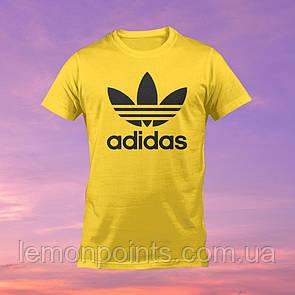 Футболка мужская спортивная Adidas желтая