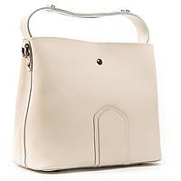 Бежева жіноча сумка А. Rai сумочка з натуральної шкіри на кожен день, містка, фото 1