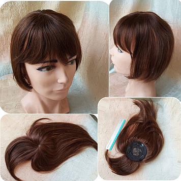 """Накладка с челкой из натуральных волос на макушку MUSI Q10""""-4"""