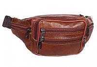 Поясная сумка из натуральной кожи TRAUM Темно-Коричневый M-71, фото 1
