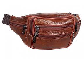 Поясная сумка из натуральной кожи TRAUM Темно-Коричневый M-71