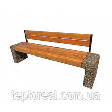 Скамейка для дачи и дома Модерн со спинкой