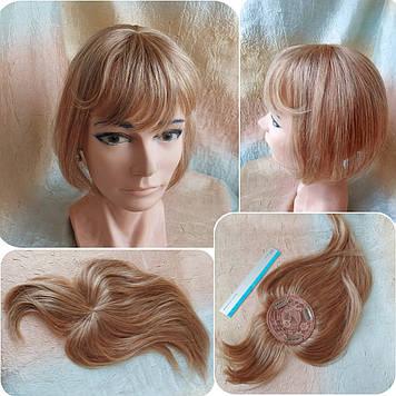 """Накладка с челкой из натуральных волос на макушку MUSI Q10""""-27"""