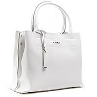 Біла класична жіноча сумка А. Rai сумочка з натуральної шкіри на кожен день, містка, фото 1